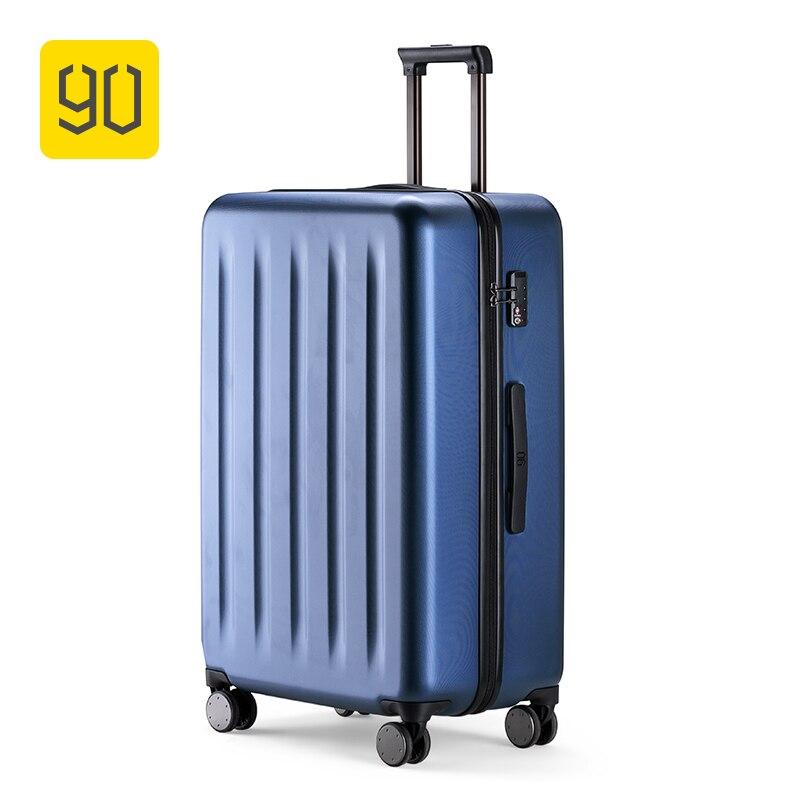 90FUN 100% PC Mala Rolando Colorido Bagagem Leve Carry on Spinner Roda de bloqueio TSA Viajar mulheres homens 20 24 28 polegada
