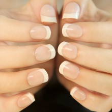 Natural French Short False Nails