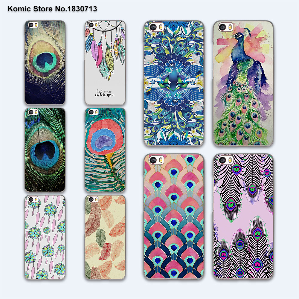 Pu leather case for samsung galaxy a7 2016 a710 peacock feather - Beautiful Luxury Peacock Feather Hard Clear Phone Case Cover For Xiaomi Mi 5 5s Plus 4