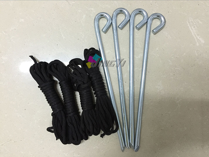 (Accompanying product, NO sold separately), quality spike & ropes for tent product differentiation