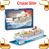 New Year Gift Large Cruise Ship 3D Puzzle Model Big Vessel Paper DIY Boat Collection Learning Education Toys Decoration Ship