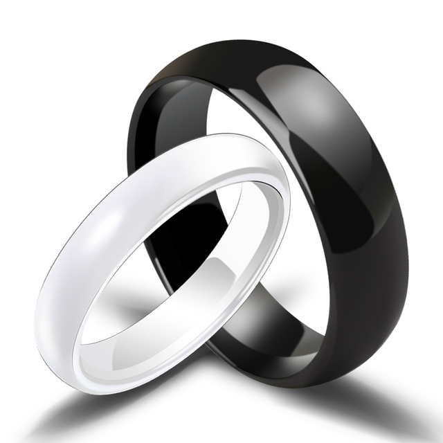fbf780754 Wholesale Couples Ceramic Rings Two Colors White/Black for Man and Woman  Anniversary Engagement and