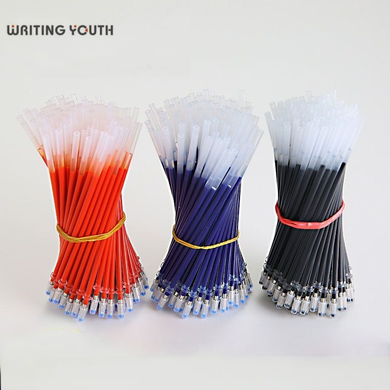 Wholesale 20pcs Gel Pen Replacement Refill Student School Writing Replacement Office Supplies Student Refill