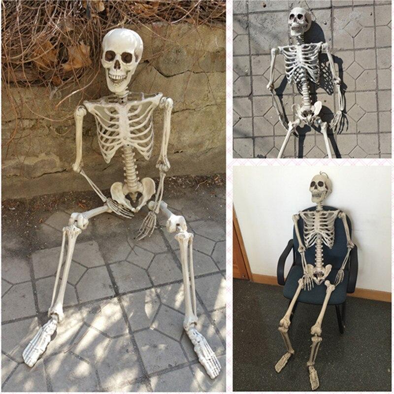 Halloween skelet 100% plastic levensgroot skelet spookhuis Escape - Feestversiering en feestartikelen - Foto 2