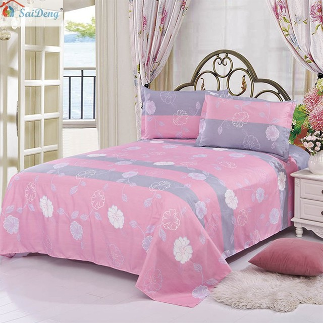 Saideng Comfortable Breathable Soft Extremely Durable Bedding Warmly Simple Princess Style Pure Aloe Cotton Bed Sheets 35