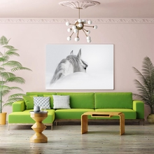 Hot Sale White  Horse Painting Canvas Printed Nordic Style Modern Home wall Artworks for Living Room