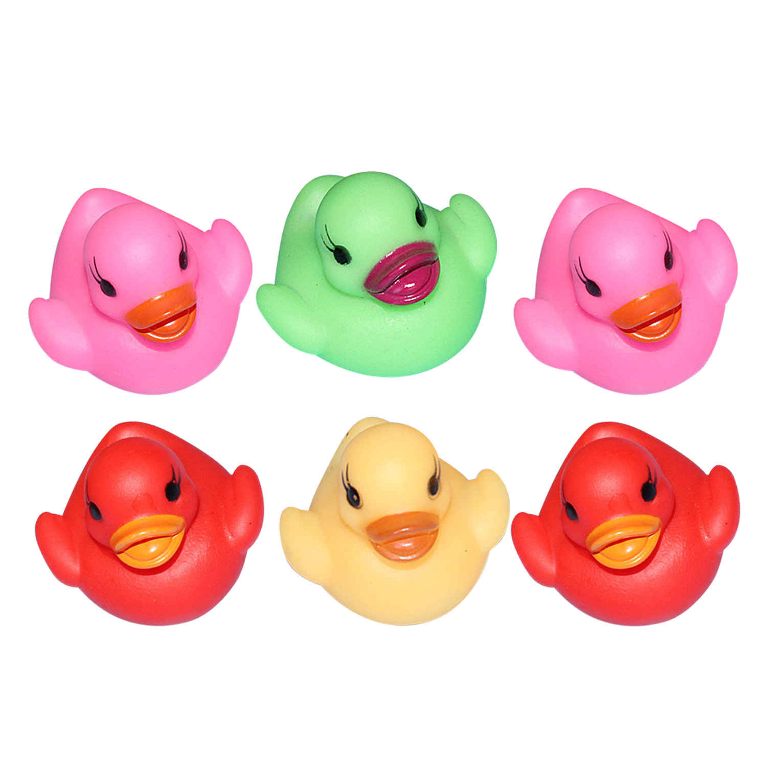 3Pcs Squeaky Ducks Flashing Rubber LED Colorful Light Up Bath Toys Kid Baby Fun