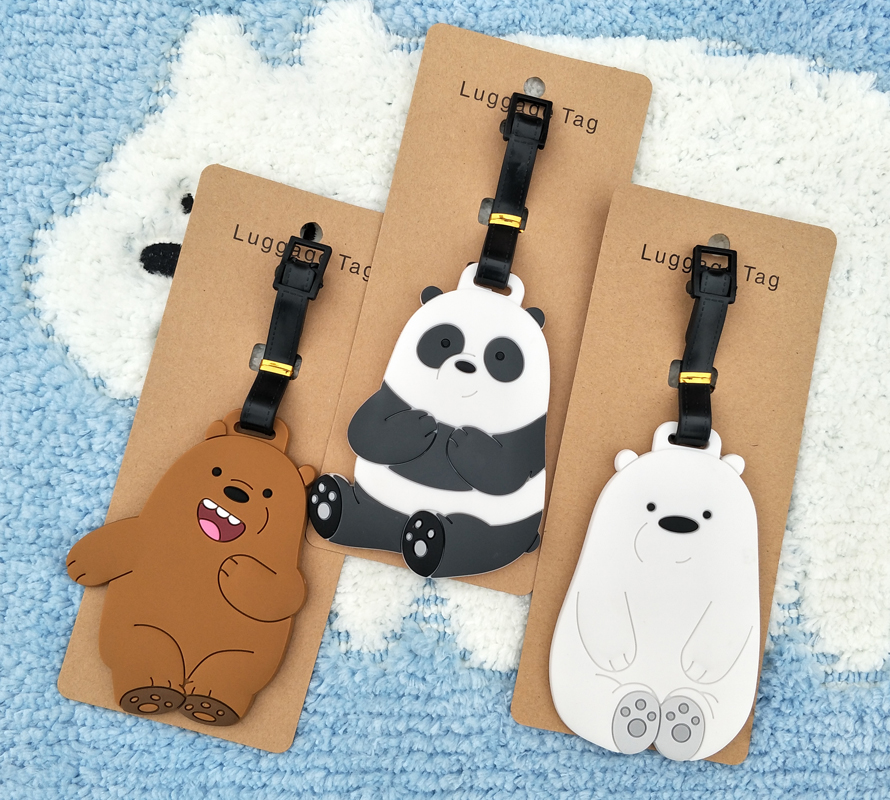 IVYYE We Bears Panda Anime Travel Accessories Luggage Tag Suitcase ID Address Portable Tags Holder Baggage Label New