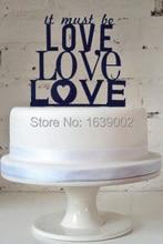 Cheap Love Word Acrylic Wedding Cake Topper Accessory