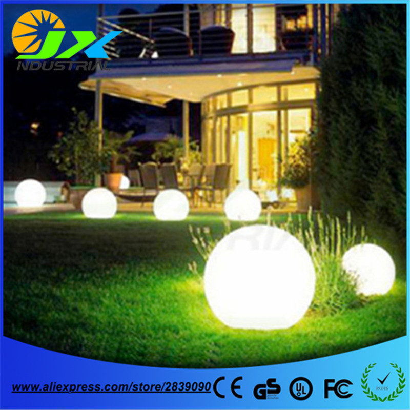Free shipping led globe light 60cm led floor garden light ,led floating pool ball lamp 20/30/40/50/60cm