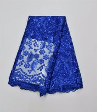 African Lace embroidered tulle fabric for dresses