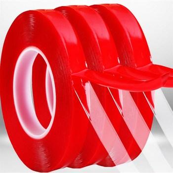 300cm przezroczysta silikonowa taśma dwustronna naklejka na samochód wysoka wytrzymałość wysoka wytrzymałość bez śladów samoprzylepna naklejka Living Goods tanie i dobre opinie CN (pochodzenie) ELECTRICAL Acrylic tape Taśma z pianki