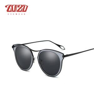 Image 4 - 20/20 ファッション偏光サングラスの女性スタイル金属フレーム有名な女性のブランドのデザイナー oculos feminino P0877
