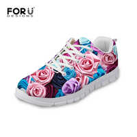 FORUDESIGNS Floral Printing Casual Shoes for Women 2017,Summer Comfortable Platform Shoes Woman,Ladies Girls Flats Walking Shoes