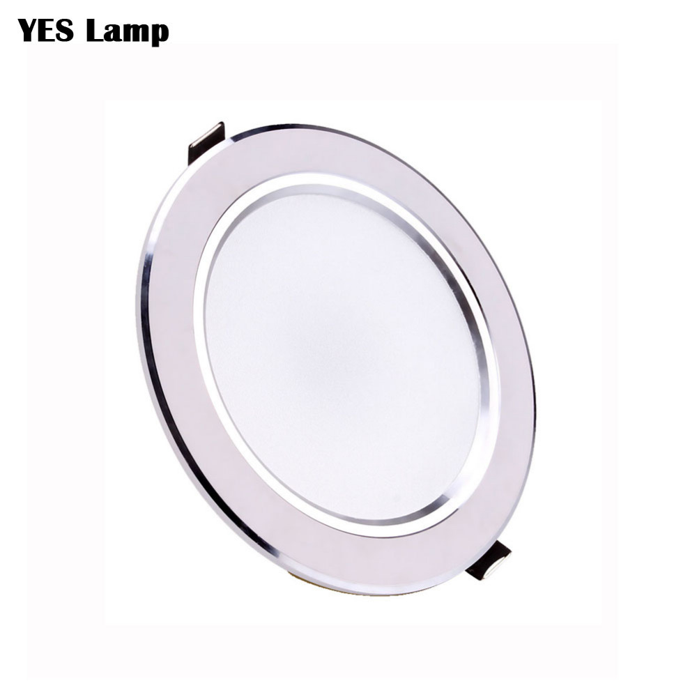 Ultra Bright Round LED Downlight AC110V 220V 3W 5W 7W 9W 12W 15W 18W Aluminum RGB LED Down Light Ceiling Recessed Spot Light