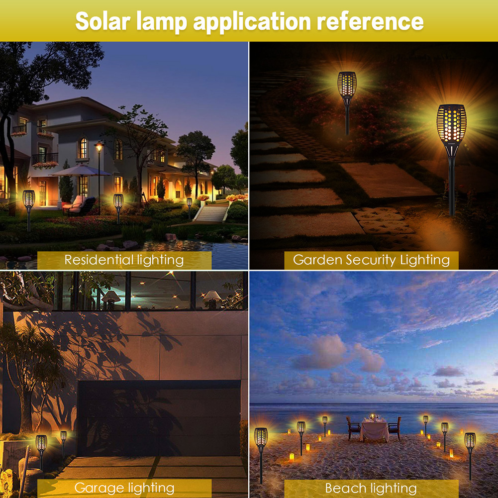 Lâmpada de chama solar cintilação ip65 à