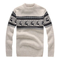 2018 Autumn Winter Fashion Brand Clothing Men's Sweaters with Deer Slim Fit Men Pullover Knitted Sweater