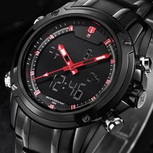 Military Sports Men's High Quality Stainless Steel Mens Watches Delicate Men's Wrist Watches Male Military Hot Sale 4=