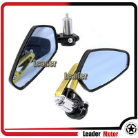 Universal Motorcycle Accessories CNC 7/8 22mm Rearview Mirror Handle Bar End Blue Side Mirror For KAWASAKI Z250 Z750 Z1000