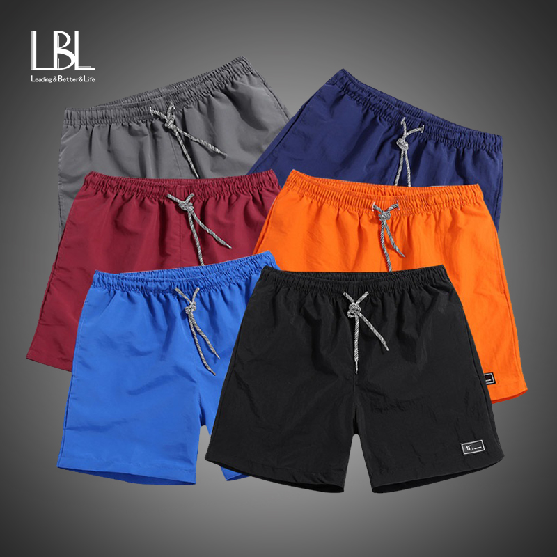 2018 New Shorts Men Summer Beach Shorts Male Casual Solid Board Shorts Elastic Hip Hop Fashion Super Quick Drying Shorts M-5XL