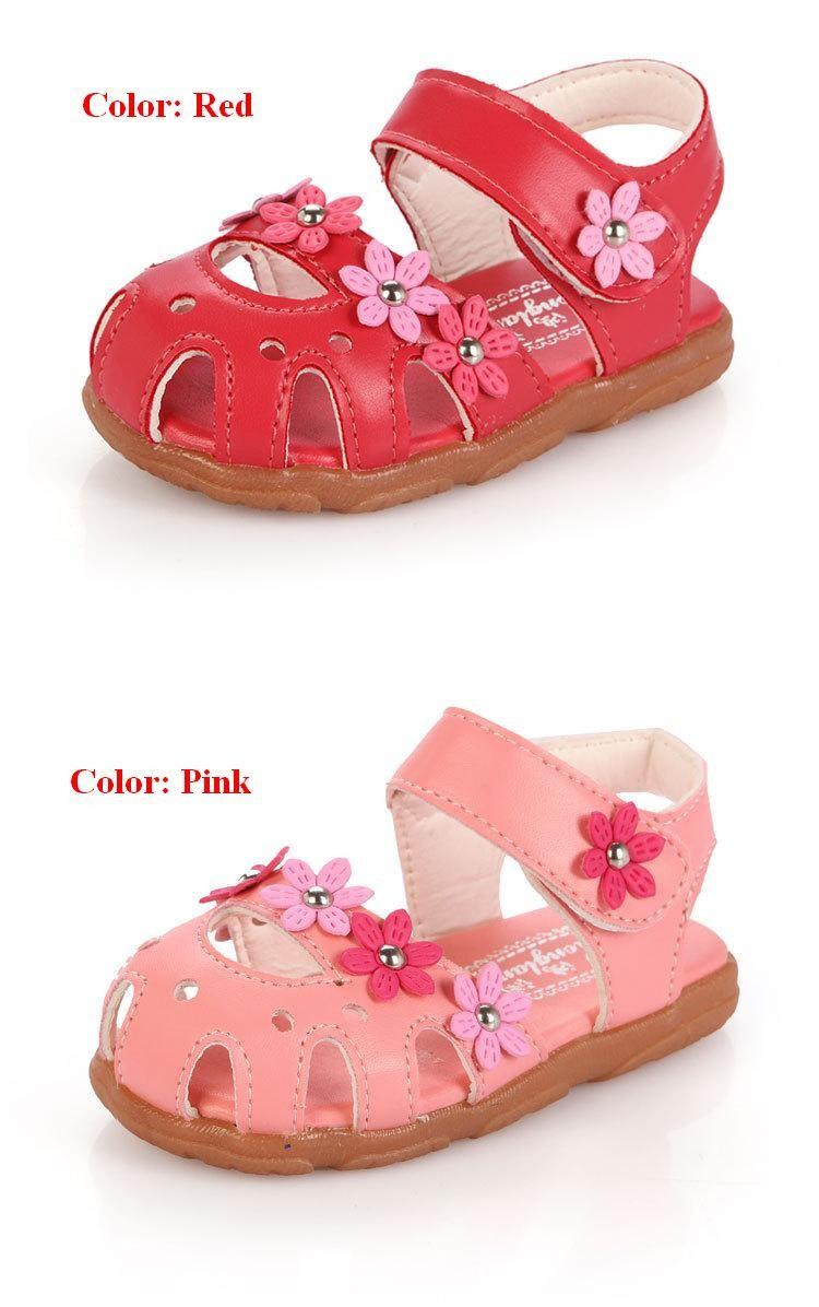 Summer Flower Soft Bottom Baby Sandals