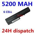 5200 mah 6 células bateria do portátil para hp probook 6550b 6555b para hp compaq business notebook 6530b 6535b 6730b 6735b