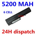 5200 mah 6 celdas de batería del ordenador portátil para hp probook 6550b 6555b para hp compaq business notebook 6530b 6535b 6730b 6735b