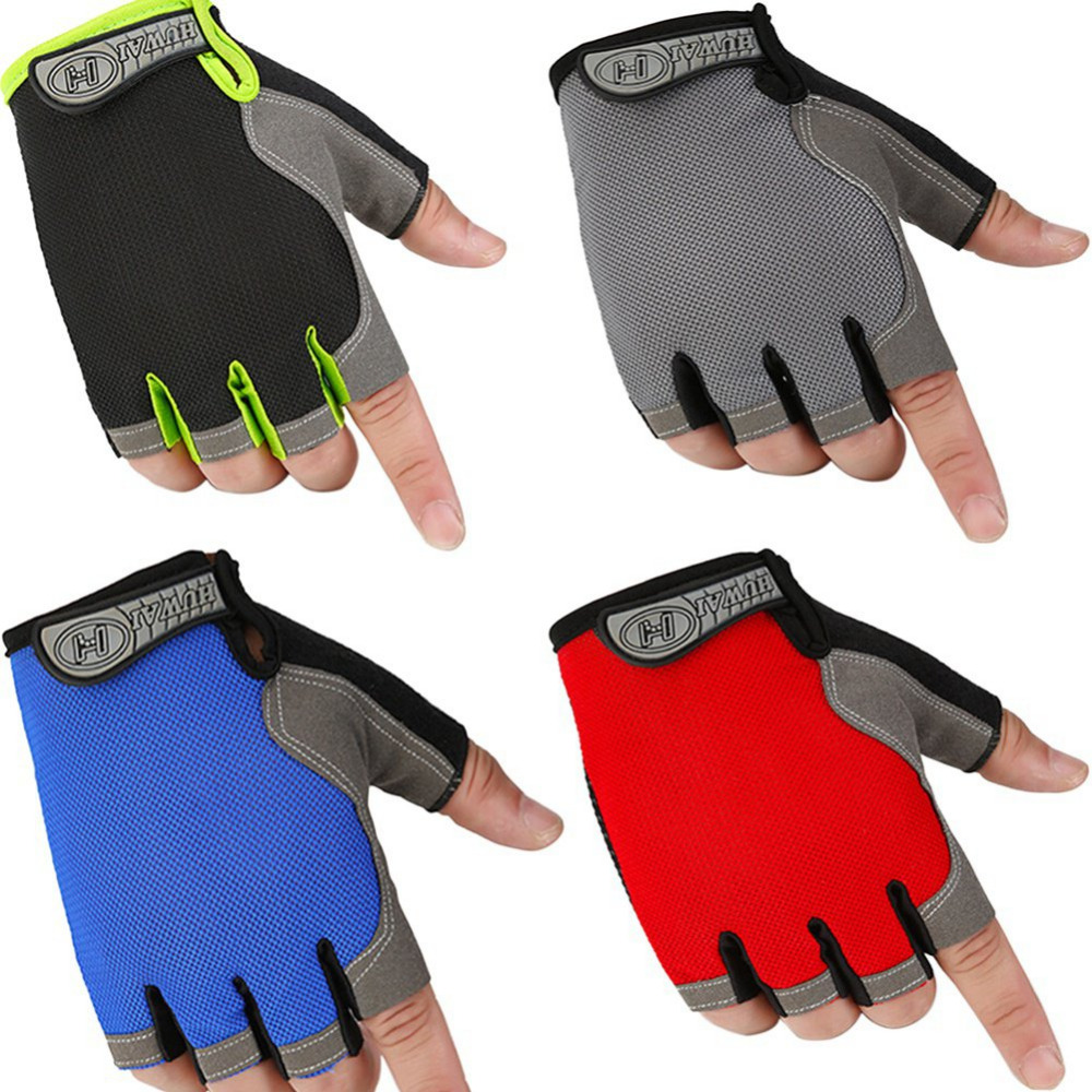 2017 1 Pair Fitness Half Finger font b Gloves b font Outdoor Multifunction Sports font b
