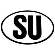 CS-1191#22*14cm SU funny car sticker vinyl decal silver/black for auto stickers styling