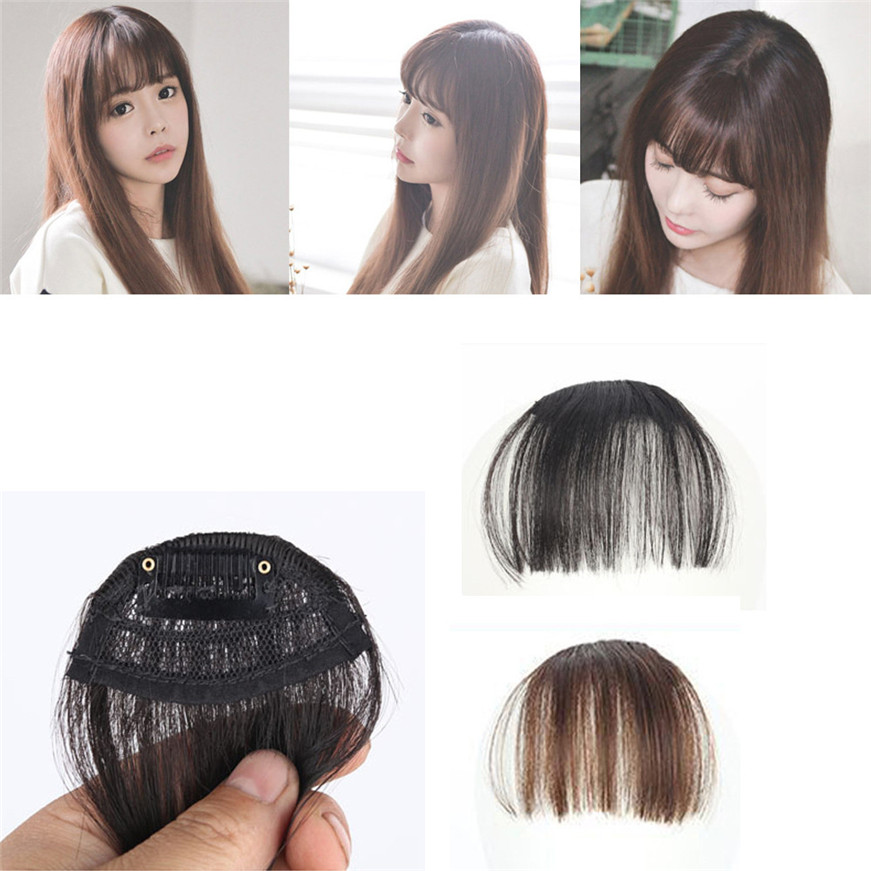 Diligent Pretty Girls Clip On Clip In Front Hair Bang Fringe Hair Extension Piece Thin Street Price Braiders