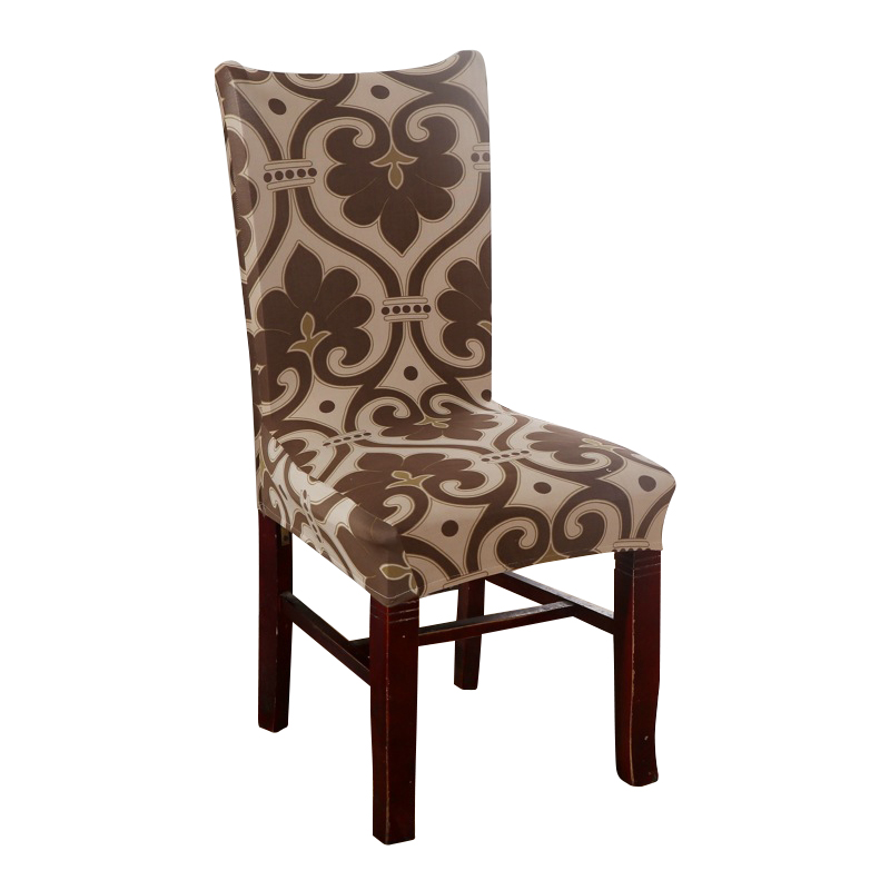 Cheap Dining Room Chair Covers: Brown Chair Covers Cheap Jacquard Stretch Chair Covers For