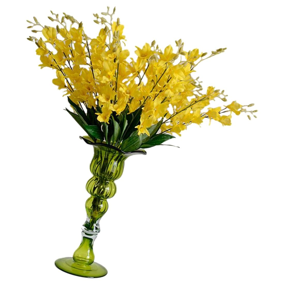 Uesh 5pcs High Quality Artificial Phalaenopsis Orchid Flowers Silk