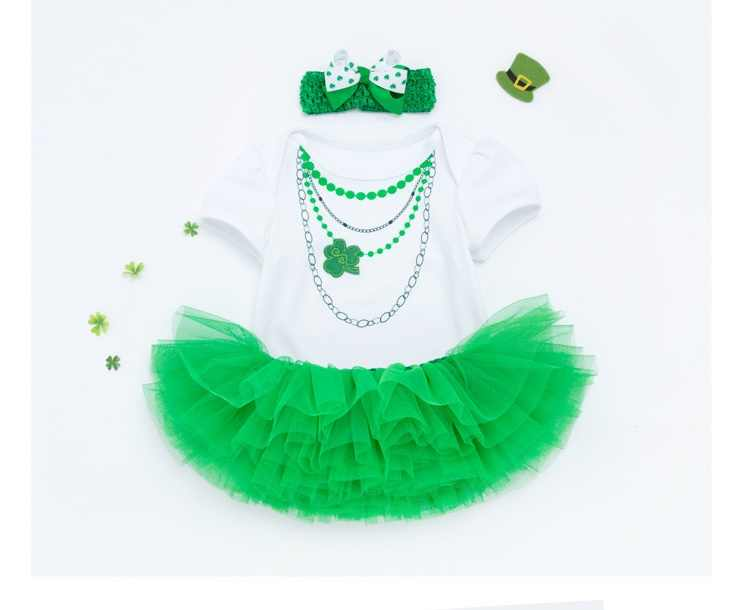 DOLLMAI fashion design reborn baby girl dolls clothes green romper with necklace skirt suit 20-22inch dolls accessories toys
