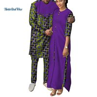 2ec9ea4c86 African Clothes Women Ankara Print Long Dresses Mens Shirt And Pants Sets  Lover Couples Clothes African