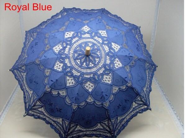 New Lace Umbrella Cotton Embroidery White/Ivory Battenburg Lace Parasol Umbrella Wedding Umbrella Decorations Free Shipping 36