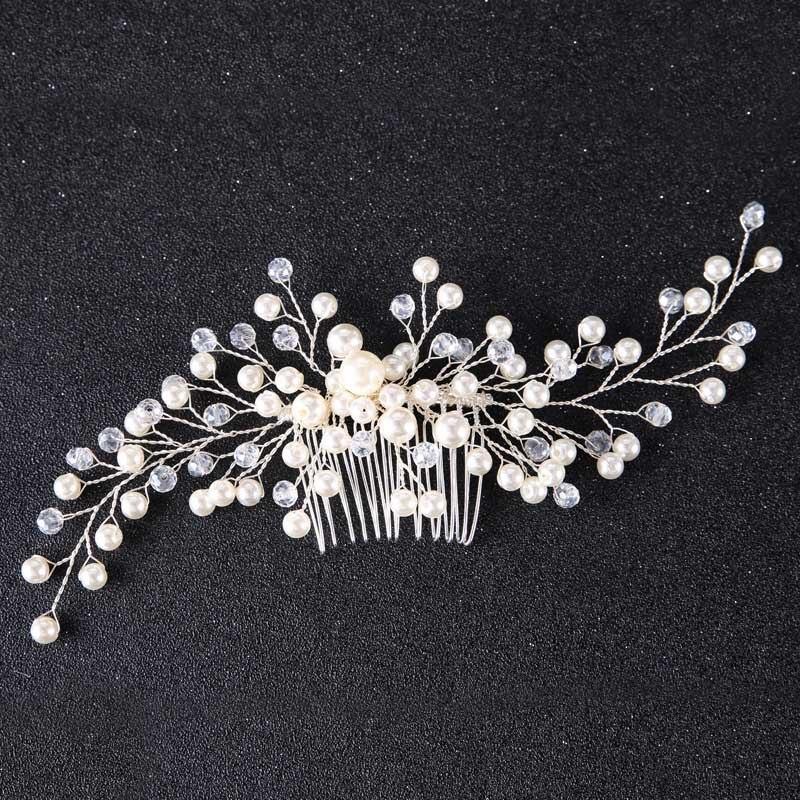 Pearl Flower Hairband საქორწილო - მოდის სამკაულები - ფოტო 5