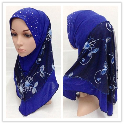 2016 latest style assorted colors pull on instant Muslim hijab and islamic scarf MRGT009
