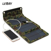 5W 5 5V Portable Folding Solar Panel Charger Camping Solar Power Bank For Cellphone MP4 Camera