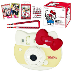 Limited Edition Fujifilm Instax Mini Hello Kitty Instant Camera Red + 10 Sheets Photo Paper Instax Film + Stickers + Strap