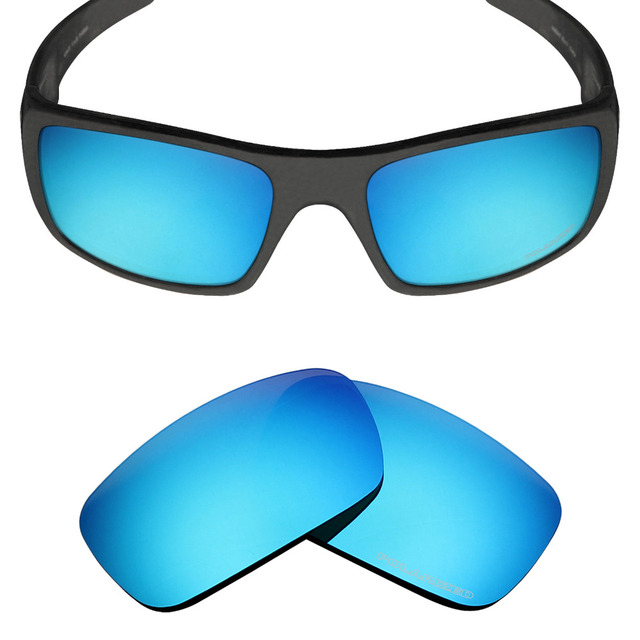 1b3f8501cefd Mryok+ POLARIZED Resist SeaWater Replacement Lenses for Oakley Crankshaft Sunglasses  Ice Blue