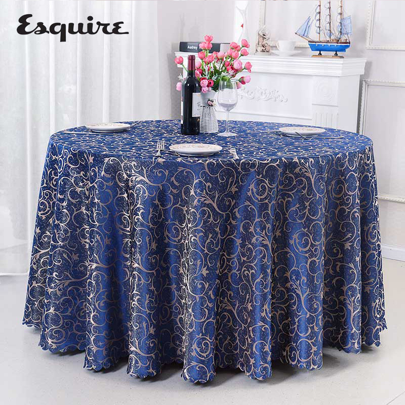 ESQUIRE Polyester Table Cloth Europe Square Or Round Tablecloth Thicken Fabric For Hotel Restaurant Decor Dining Table Cover