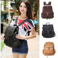 2015 new Free shipping Women Leather Backpack School Bags High Quality PU Casual Bags Ladies Vintage Woman Backpacks