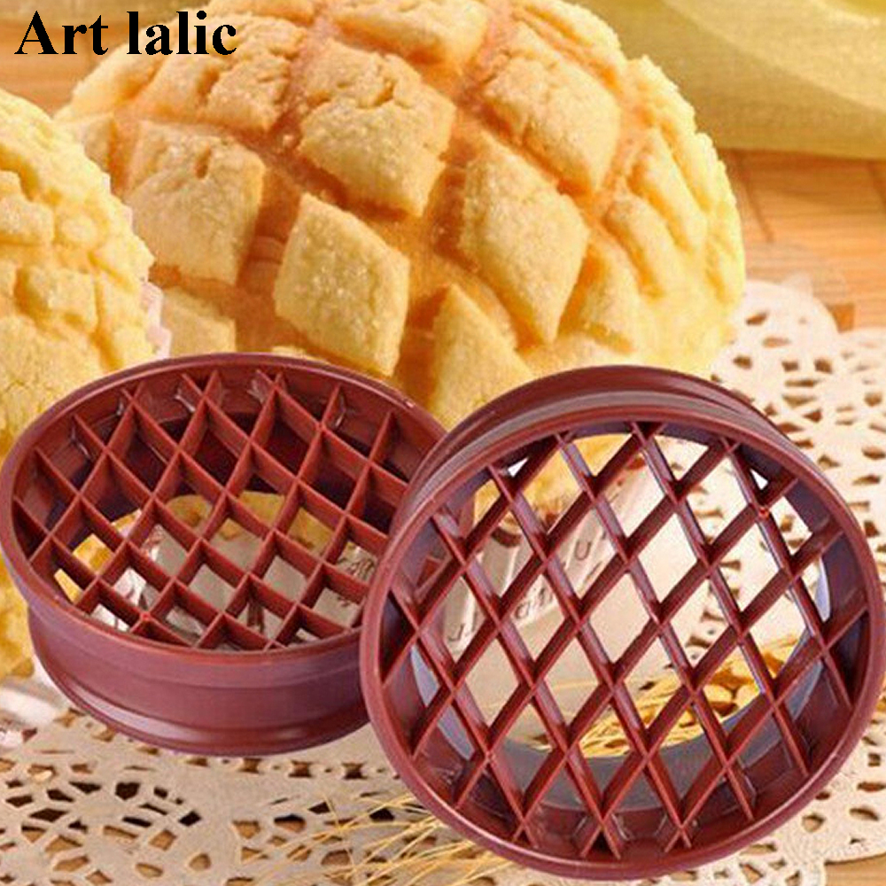 1PC Gitter Press Ananas Bun Mould Plastic Brød Cake Mould Bagværk Pastry Tools