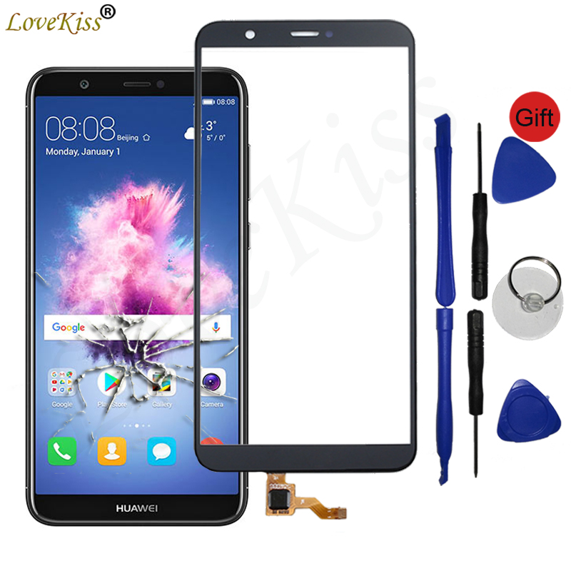 P Smart Front Panel For Huawei P Smart FIG L31 LX1 L21 L22 Enjoy 7S Touch Screen Sensor LCD Display Digitizer Glass Cover Lens