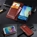 Vintage leather wallet case para samsung galaxy a3 a5 j3 j5 j7 2016 nota 4 3 5 grand prime s7 s6 borda mais grand neo 2 casos aleta