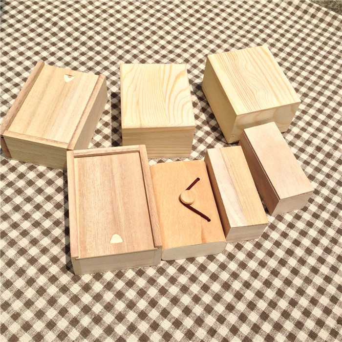 Wooden Box Customization Zakka Wooden Storage Box For Gift In Festival Make Your Style Box Can