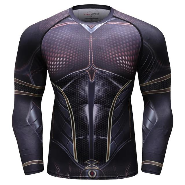 727b1746c6c20 2018 new 3D printing ant 2 nymph MMA rashgard long sleeve fitness tights men's  compression quick-drying breathable T-shirt tops