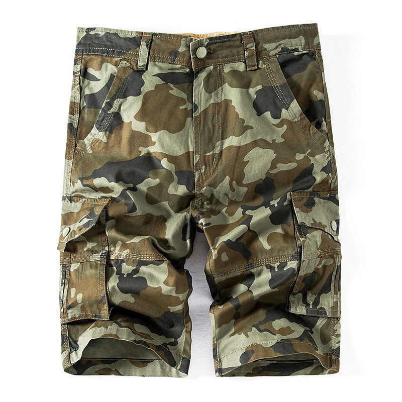 MORUANCLE Mens Military Style Camouflage Cargo Shorts With Multi Pockets Tactical Camo Short For Man Plus Size 29-40 100% Cotton
