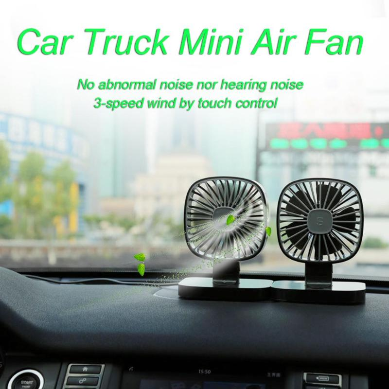 Alloet USB Fan Mini Car Truck Cooling Machine 3-Speed Strong Wind Air Cooling Fan Low Noise Ventilator Cooler for Summer cute pet fan dog cat rabbit style summer cooling fan household ventilator with usb power bank function