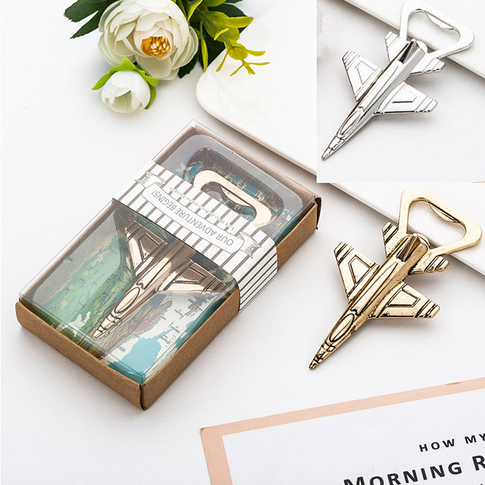 80pcs Aluminum Alloy Airplane Bottle Opener Antique Plane Aircraft Shape Beer Openers Wedding Party Home Kitchen